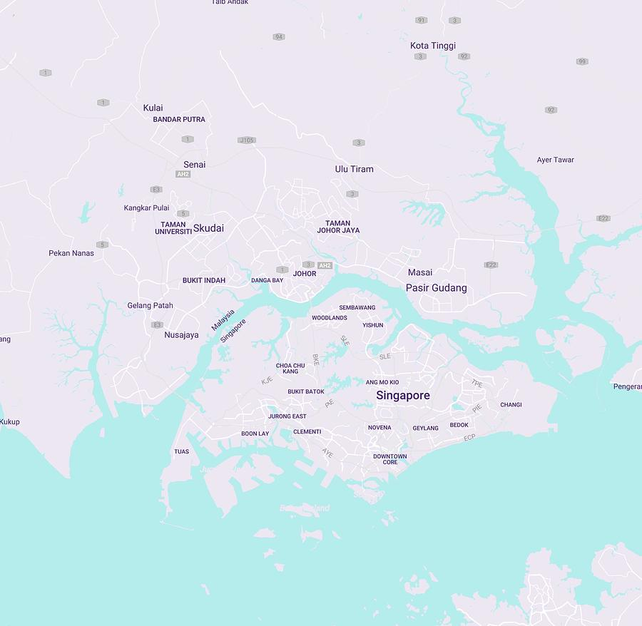 Minimalist Modern Map Of Singapore Painting By Celestial Images