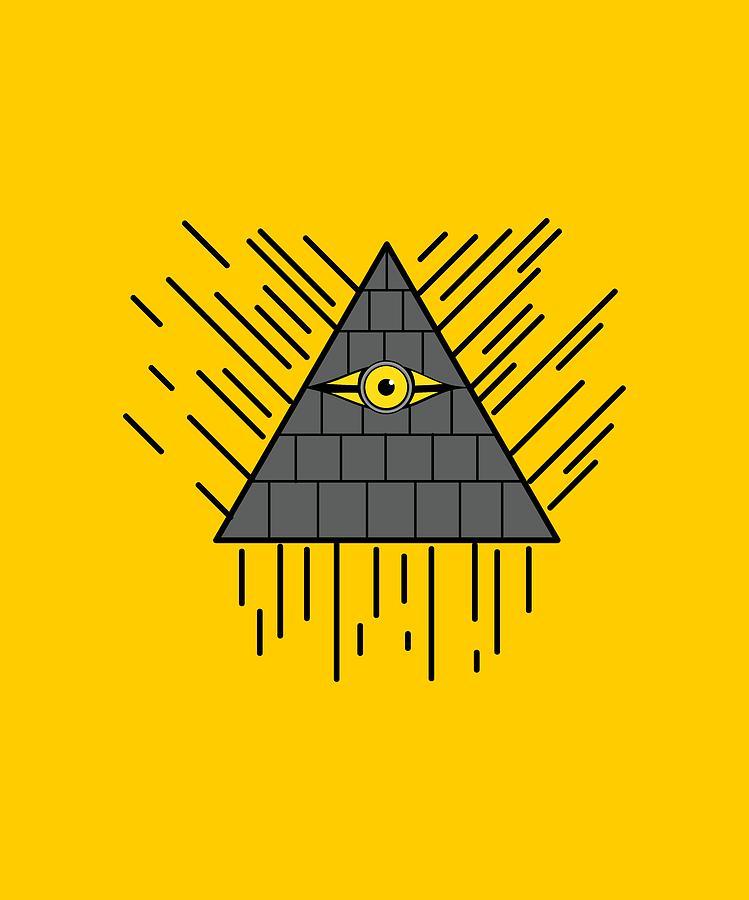 892d87cf1 Design Digital Art - Minion Eye Of Providence by Shiva Chauhan