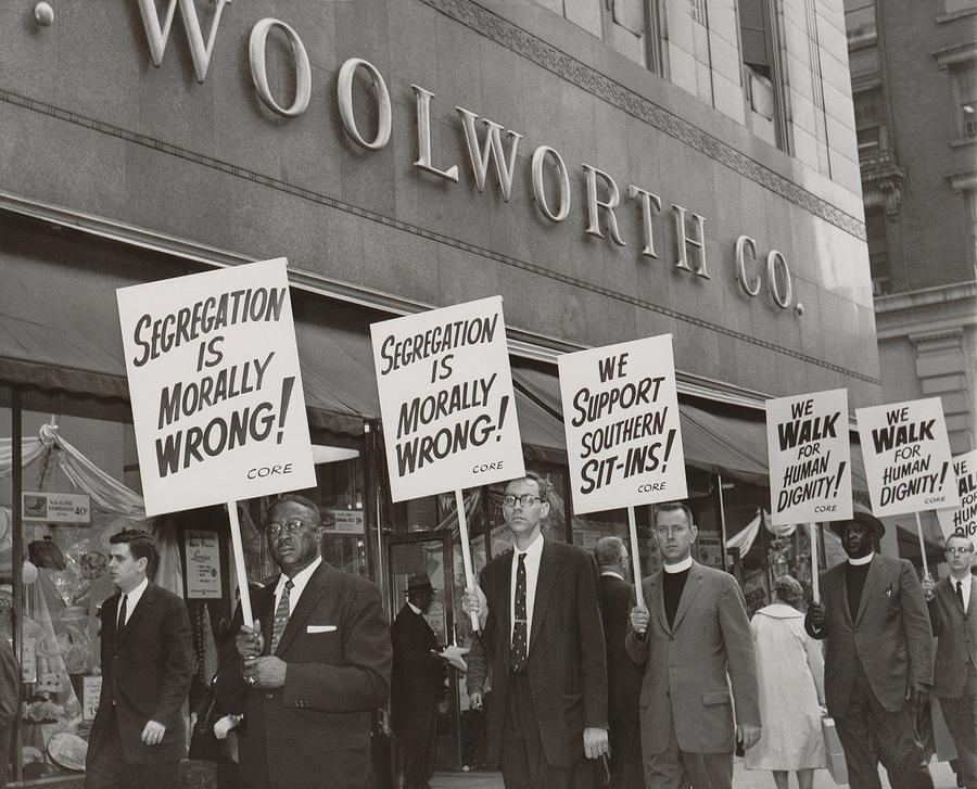 History Photograph - Ministers Picket F.w. Woolworth Store by Everett