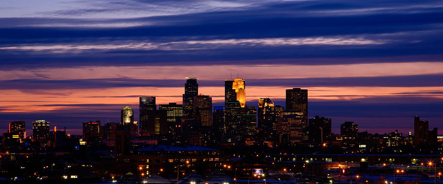 Minneapolis at Sundown by Chris Coward