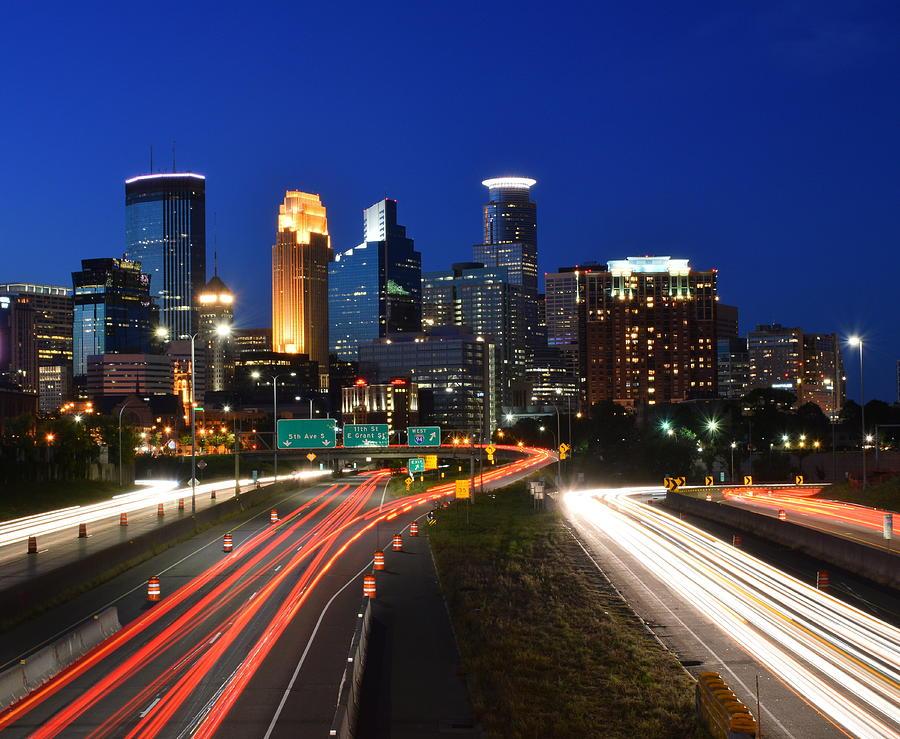 Minneapolis Photograph - Minneapolis Skyline  by Steven Liveoak