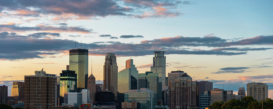 Minneapolis Skyline Sunset by Ryan Heffron