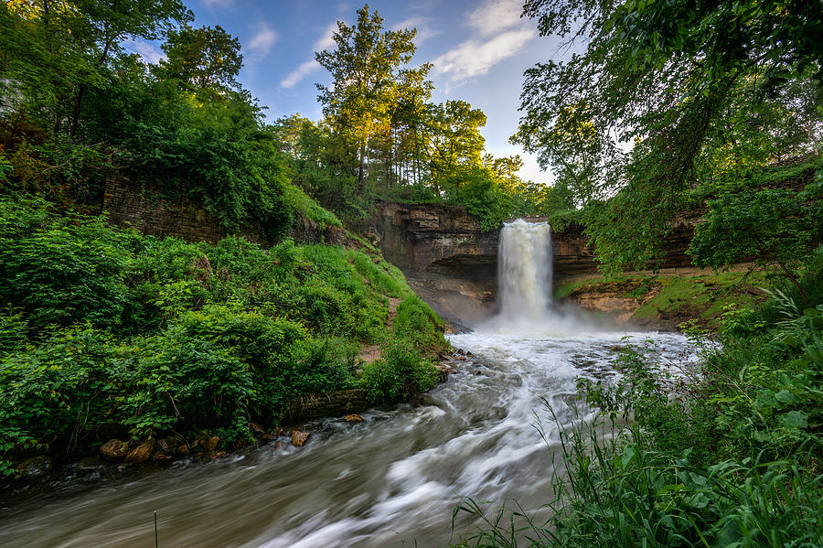 Hdr Photograph - Minnehaha Falls by Mark Goodman