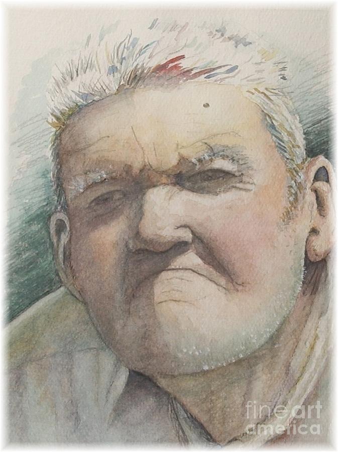 Portrait Painting - Minnesota Farmer by Nadine Rippelmeyer