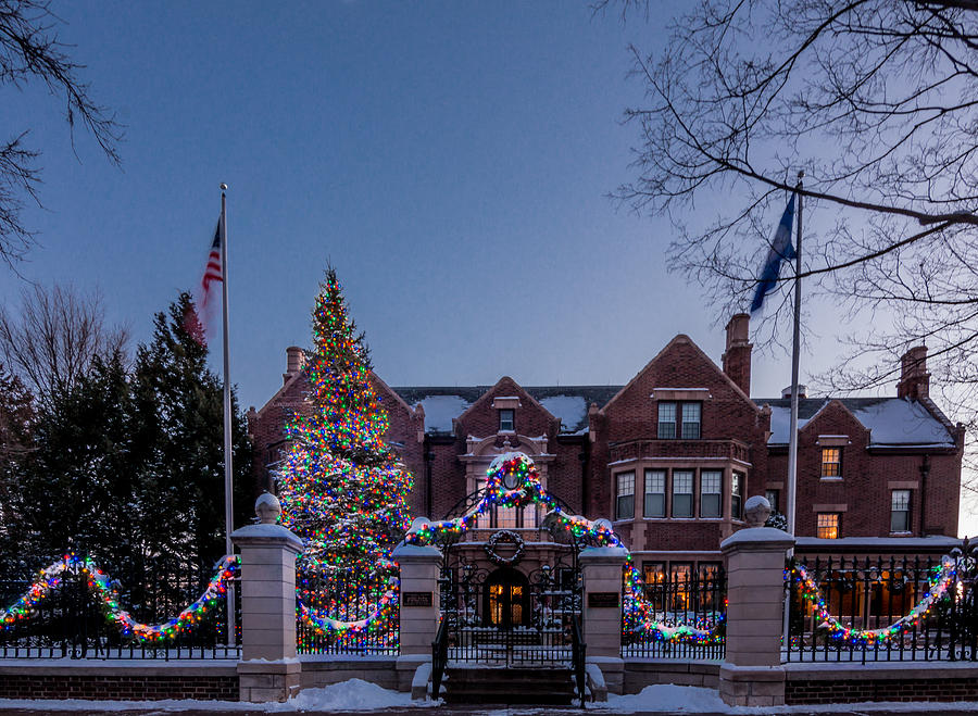 Christmas Photograph - Christmas Lights Series #6 - Minnesota Governors Mansion by Patti Deters