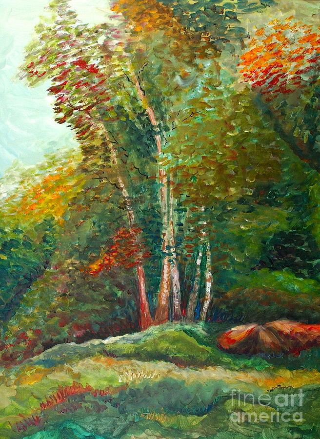 Landscape Painting - Minnesota Quartet by Nadine Rippelmeyer