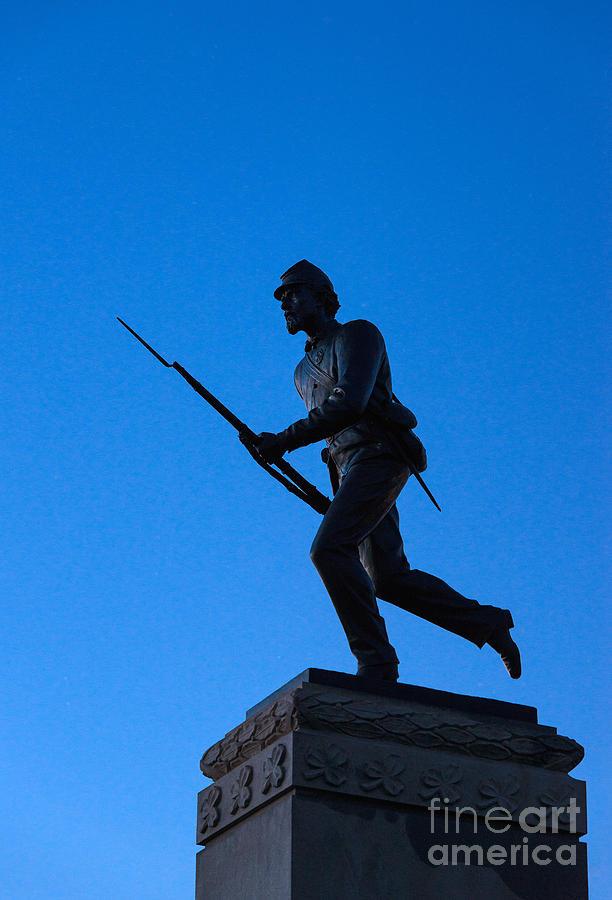 America Photograph - Minnesota Soldier Monument At Gettysburg by John Greim