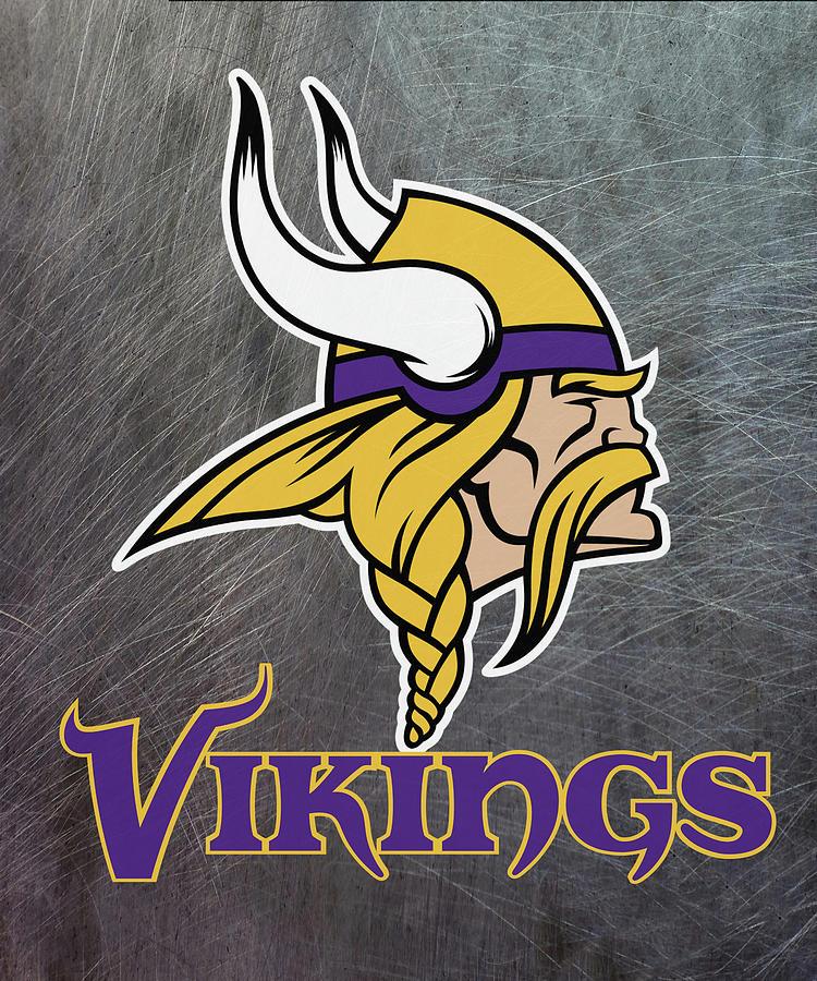 Minnesota Vikings On An Abraded Steel Texture