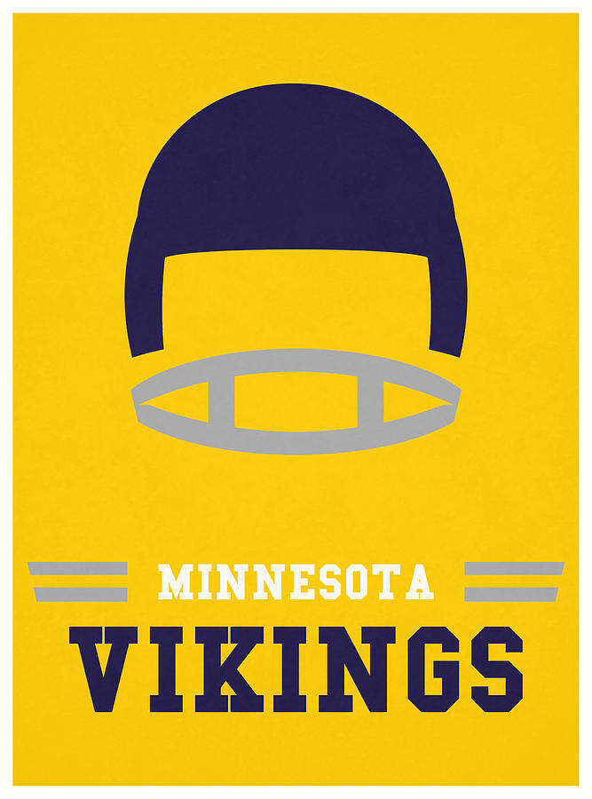 Minnesota Vikings Vintage Nfl Art