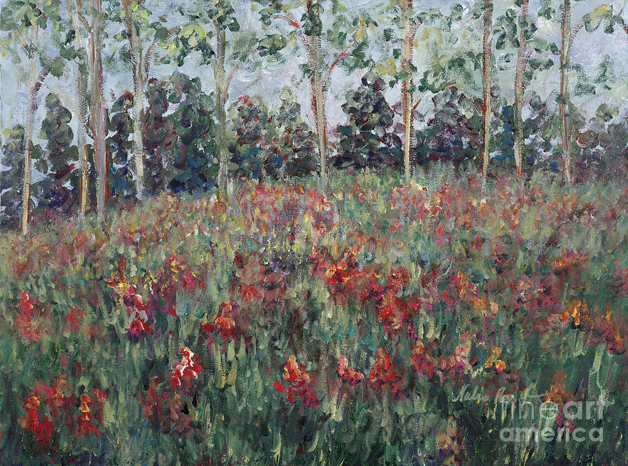 Landscape Painting - Minnesota Wildflowers by Nadine Rippelmeyer