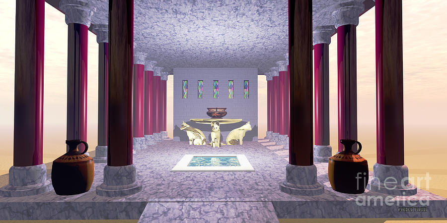 Minoan Painting - Minoan Temple by Corey Ford