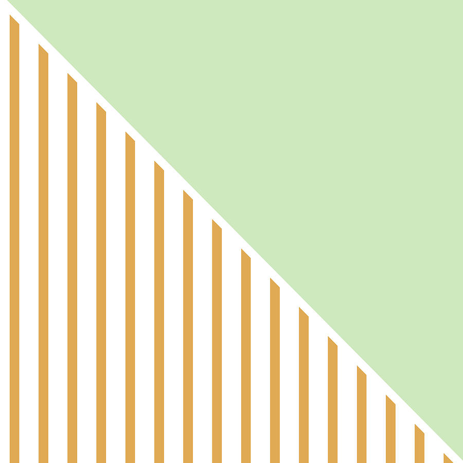Mint Digital Art - Mint and Gold Geometric by Linda Woods