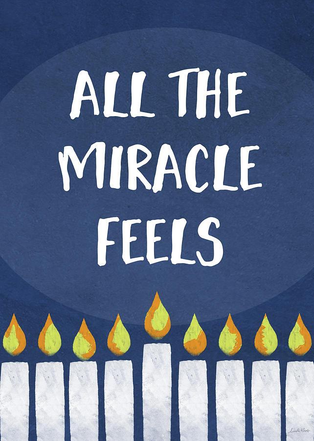 Hanukkah Mixed Media - Miracle Feels- Hanukkah Art By Linda Woods by Linda Woods