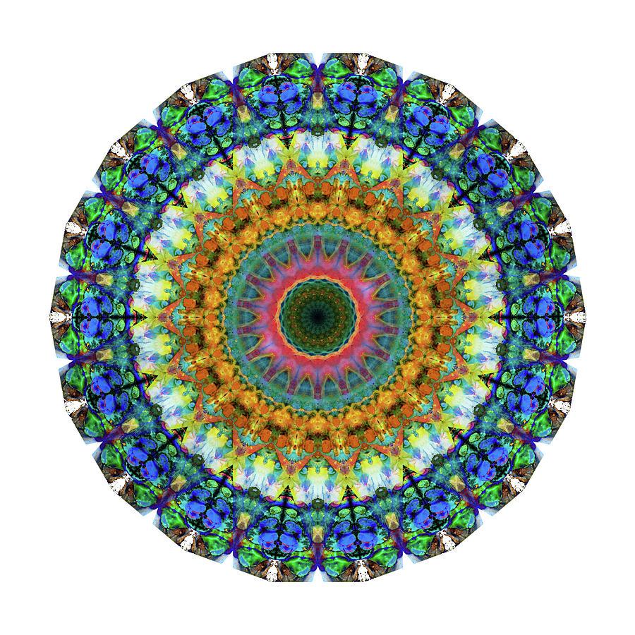 Mandala Painting - Miracle Mandala Art by Sharon Cummings by Sharon Cummings