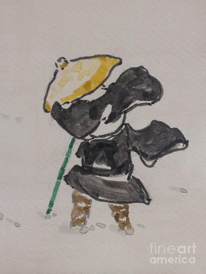 Snow Scene Painting - Mirage of Sekka by Sawako Utsumi