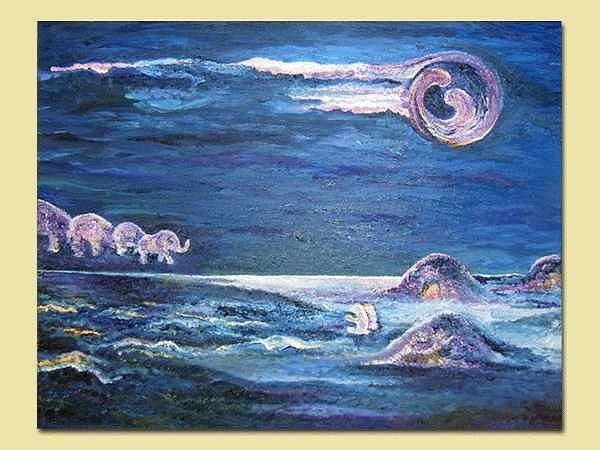 Mirage Of The Purple Night Painting by Karina Ishkhanova