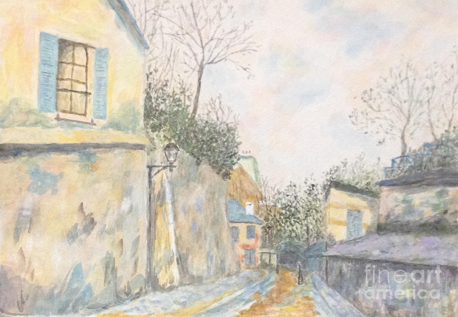 Utrillo Painting - Mirage Of Utrillo by Sawako Utsumi