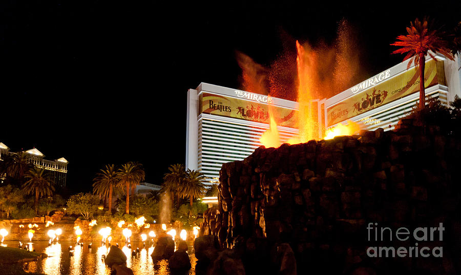 Las Vegas Photograph - Mirage Volcano by Andy Smy