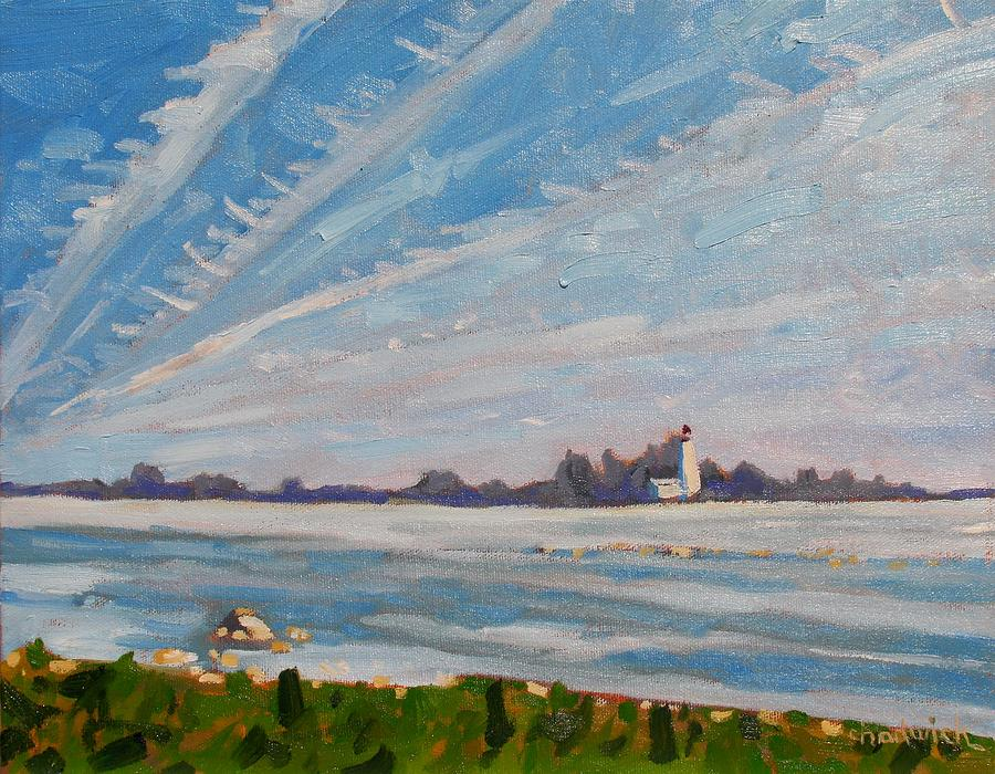 803 Painting - Miramachi Contrails by Phil Chadwick