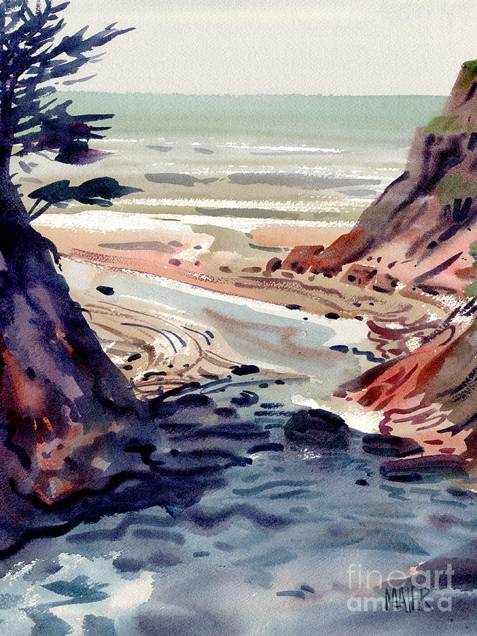 San Mateo County Painting - Miramonte Point by Donald Maier