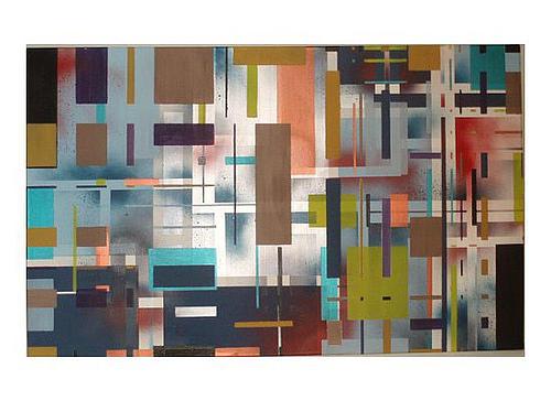 Squares Painting - Miriam Or Pinata by Kristin Miller
