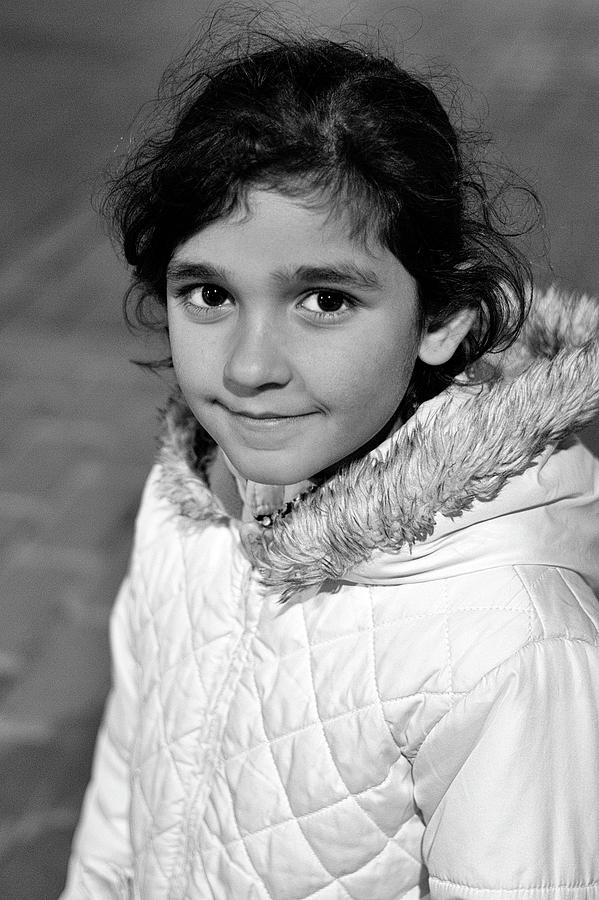 Syrian Refugee Child Photograph - Miriam by Tina Manley