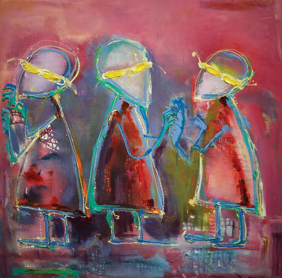 Mirror Blindness Painting by Andriy Baranovsky