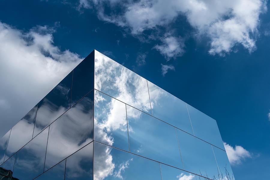 Architecture Photograph - Mirror Box by Wim Slootweg
