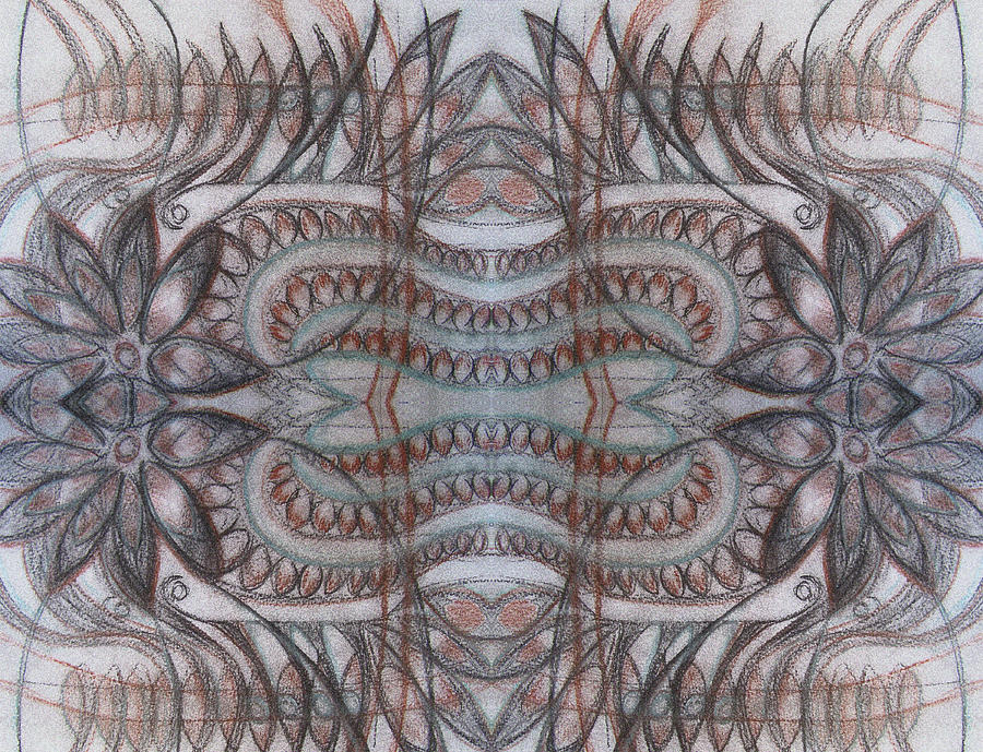Abstract Drawing - Mirror Image by Ariela