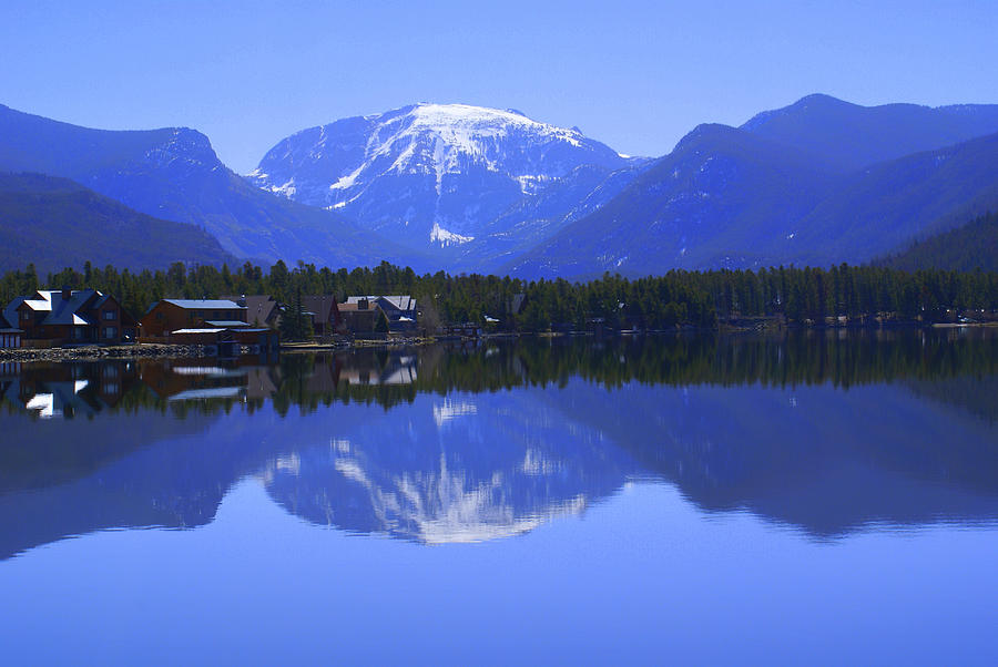 Mirror Image Grand Lake Co Mt Baldy On Shadow Mountain Spring 2007