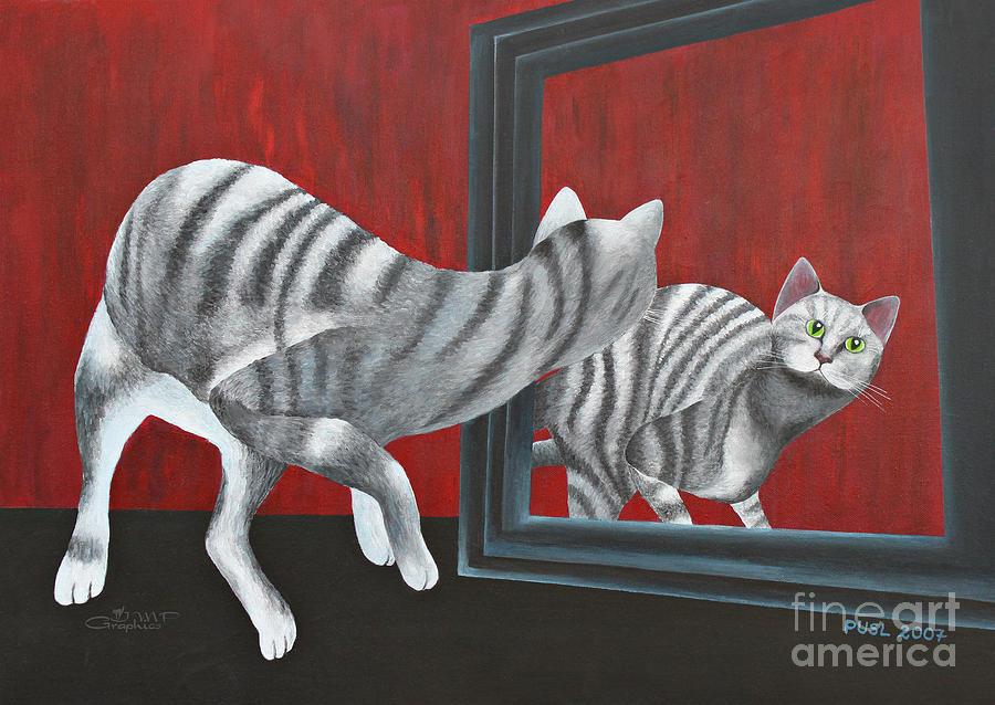 Acrylic Painting - Mirror Image by Jutta Maria Pusl
