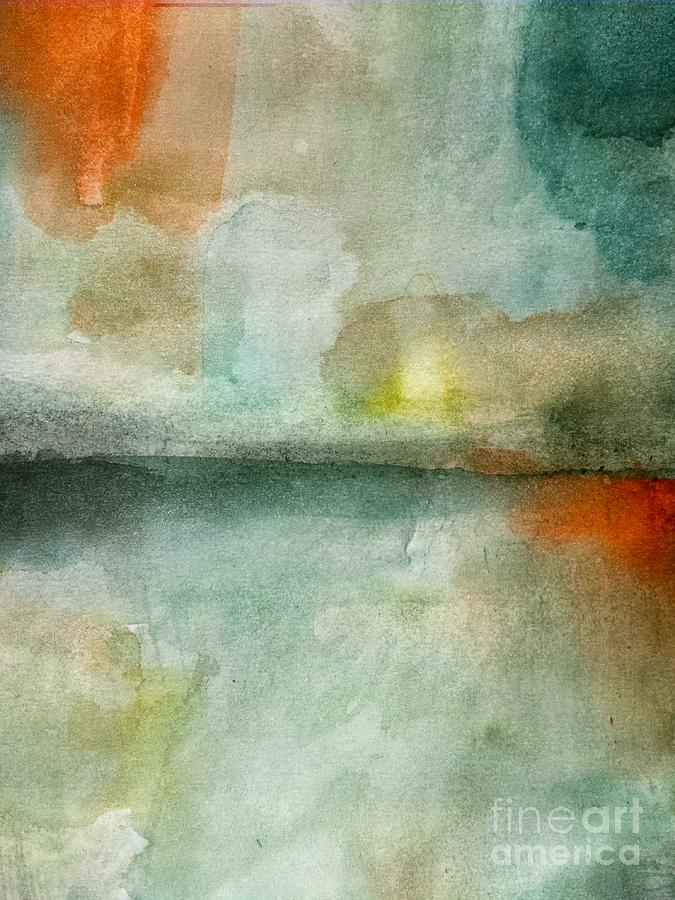 Abstract Painting - Still Clearing by Vesna Antic