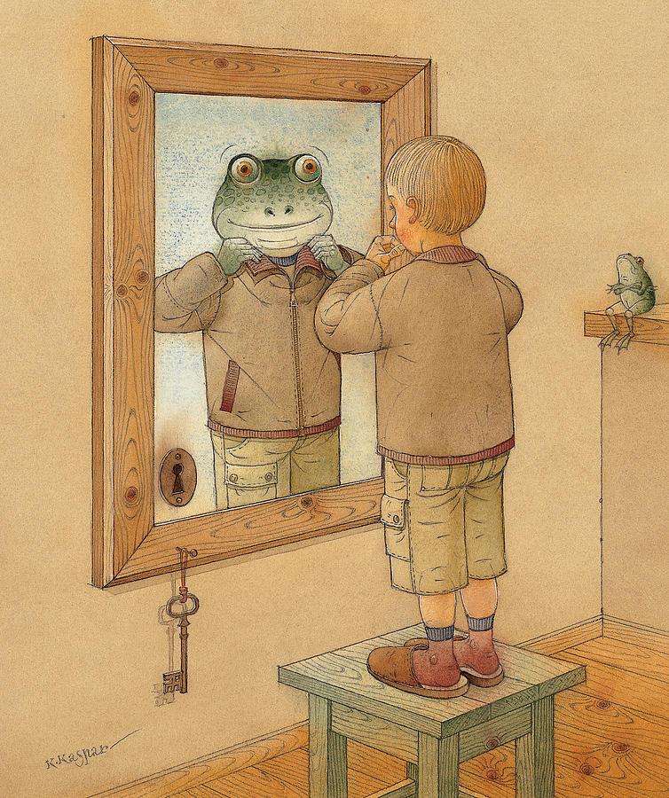 Mirror Painting by Kestutis Kasparavicius