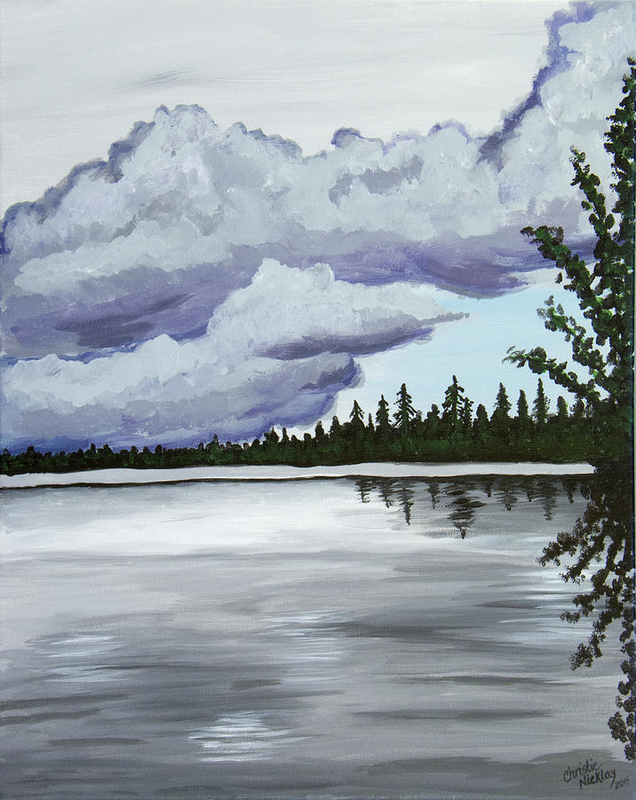 Lake Painting - Mirror Lake by Christie Nicklay