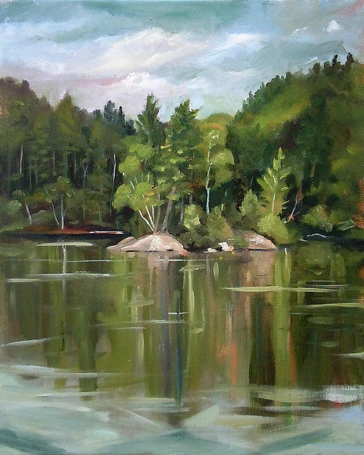 Mirror Lake En Plein Air by Nancy Griswold