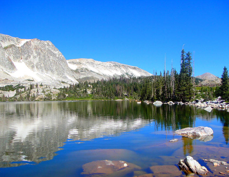 Landscape Photograph - Mirror Lake Wyoming by Kristina Chapman