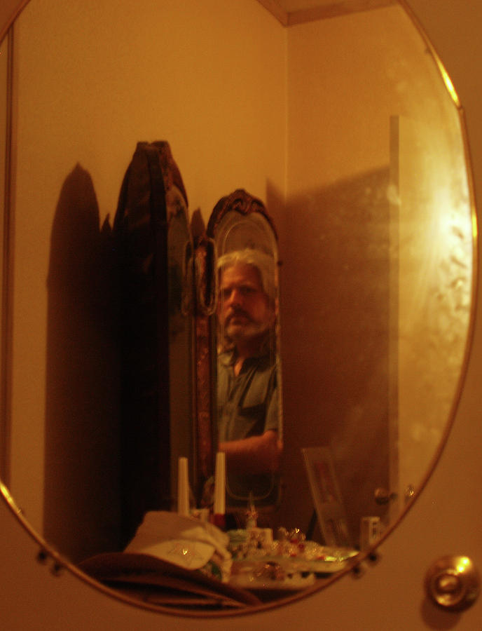 Self Portrait Photo In The Mirror Photograph - Mirror Mirror by James Granberry