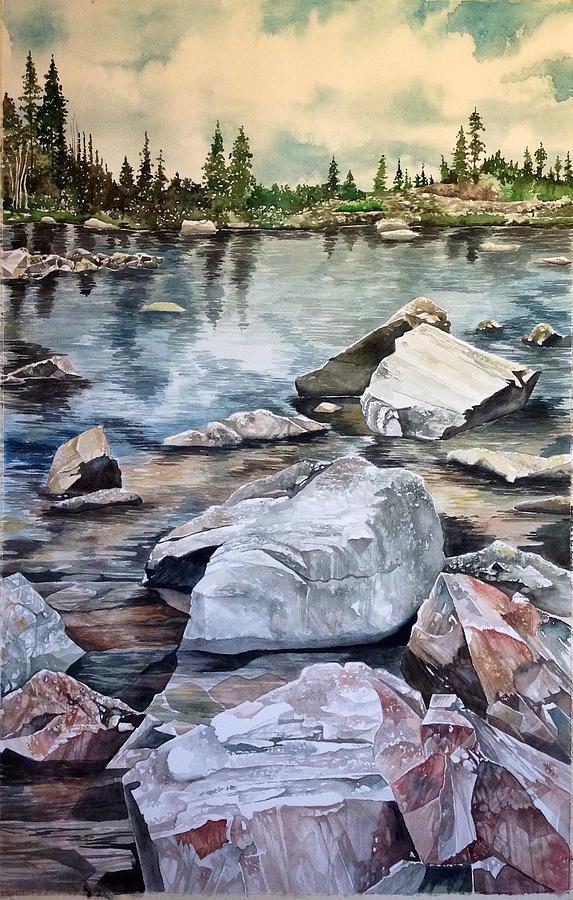 Mirror Pond Painting - Mirror Pond by Lance Wurst