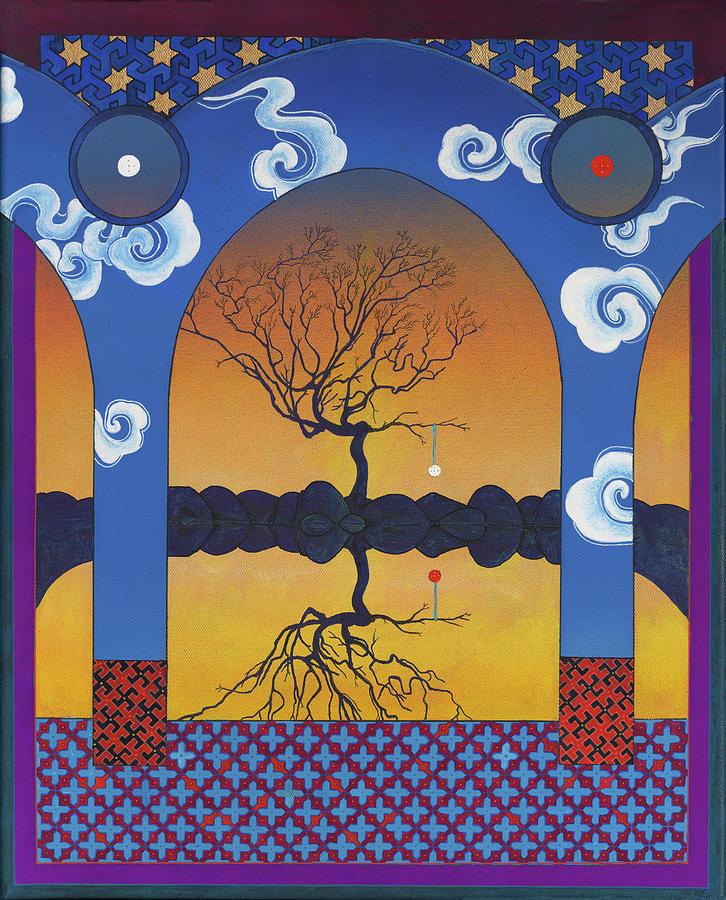 Shaman Painting - Mirror Tree by Nicholas Breeze Wood