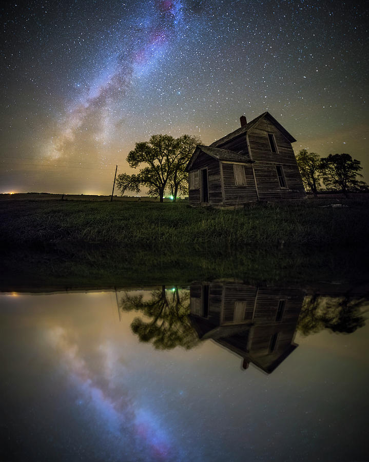 Abandoned House Photograph - Mirror Universe  by Aaron J Groen