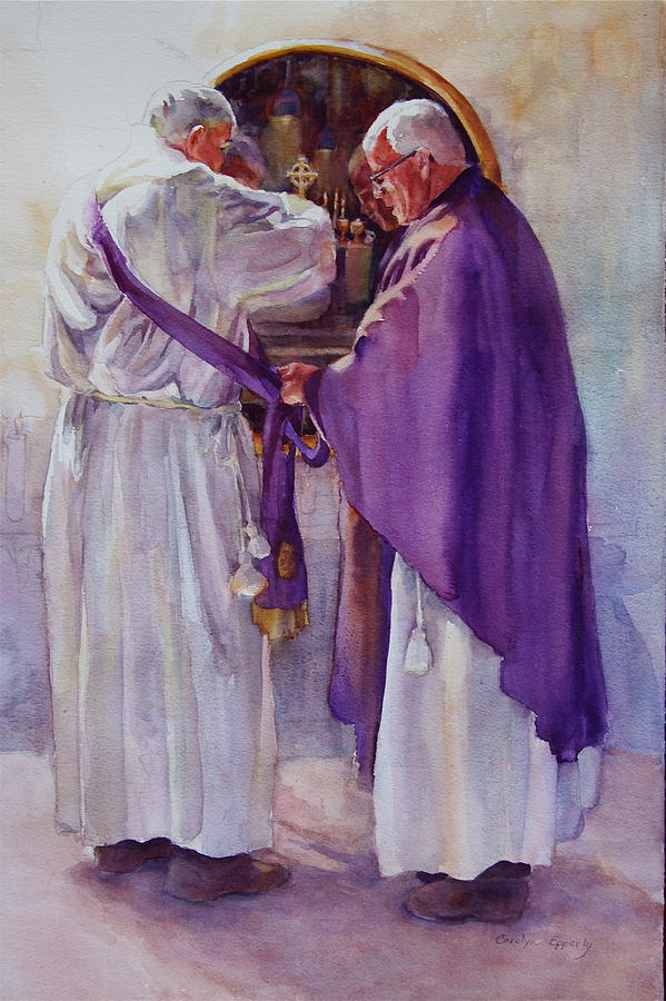 Figure Painting - Mirroring Faith by Carolyn Epperly