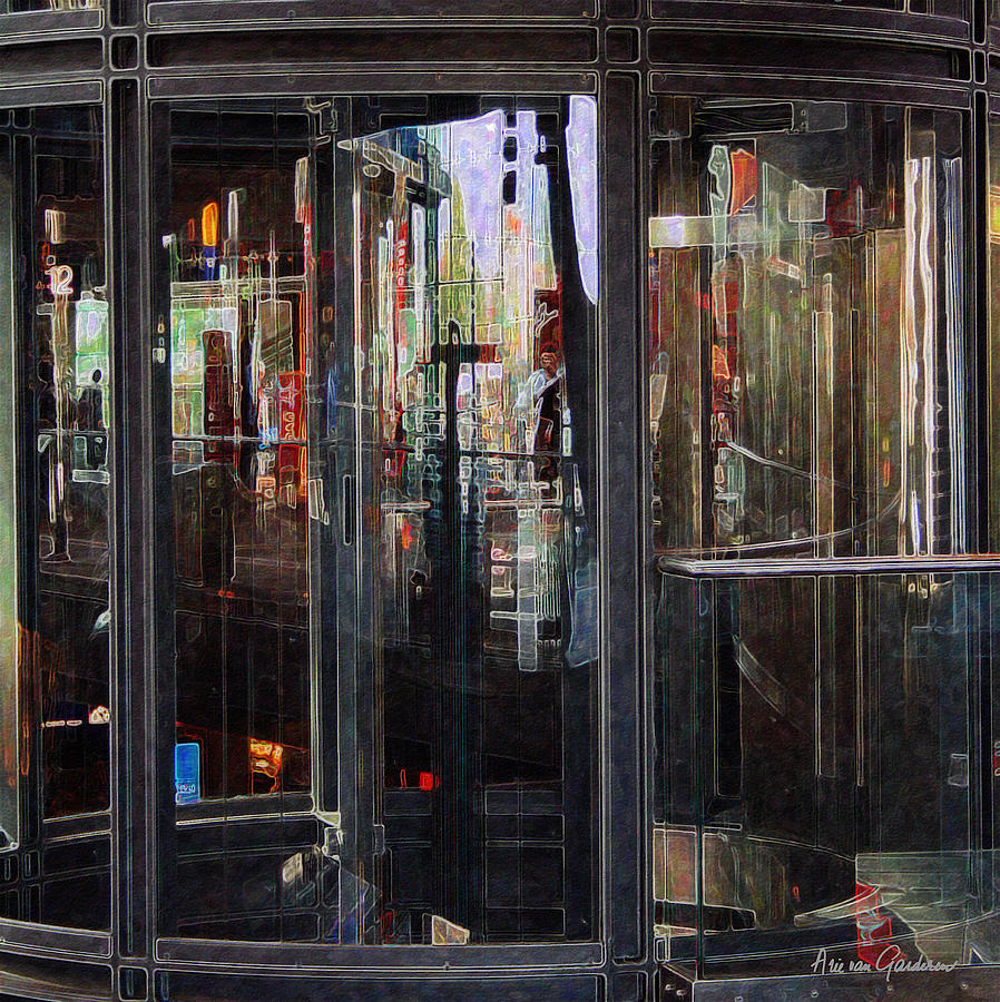 Berlin Photograph - Mirroring The Elevatorshaft by Arie Van Garderen
