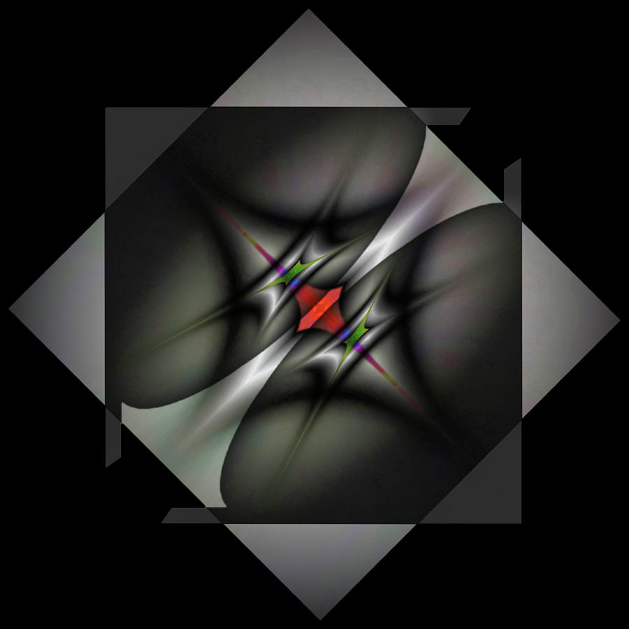 Abstract Digital Art - Misaligned Energy Matrix-left by Mike Breau