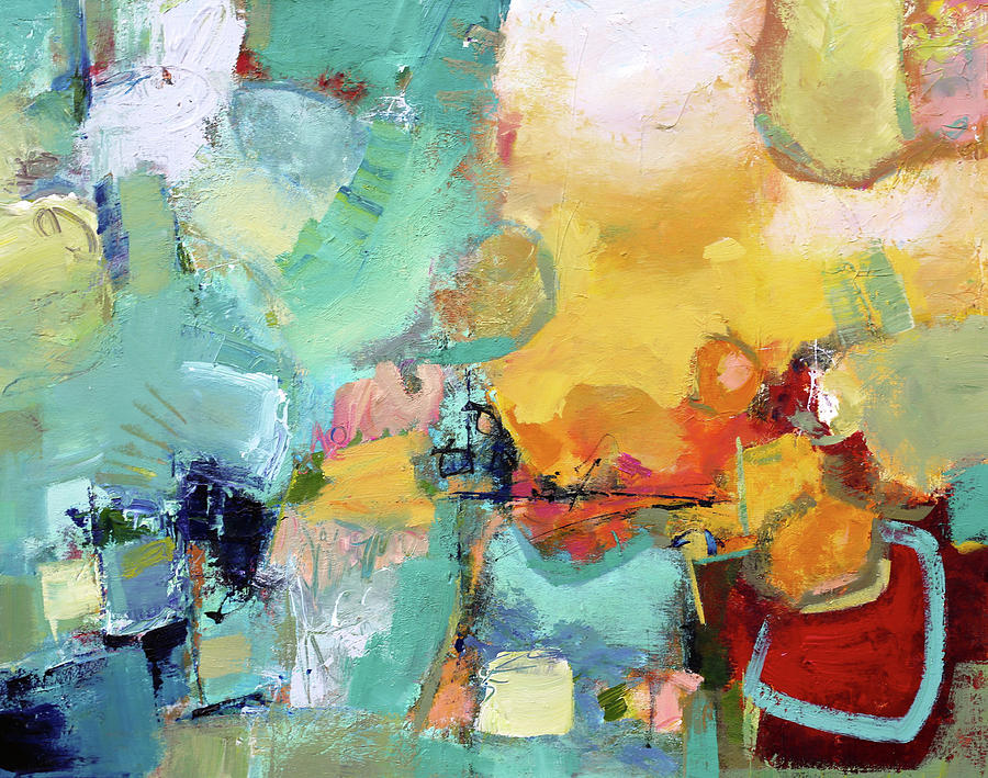 Abstract Painting Painting - Mishmash by Elizabeth Chapman