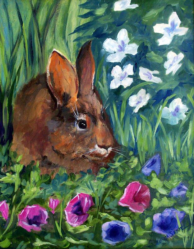 Animal Painting - Miss Bunny by Lorna Skeie