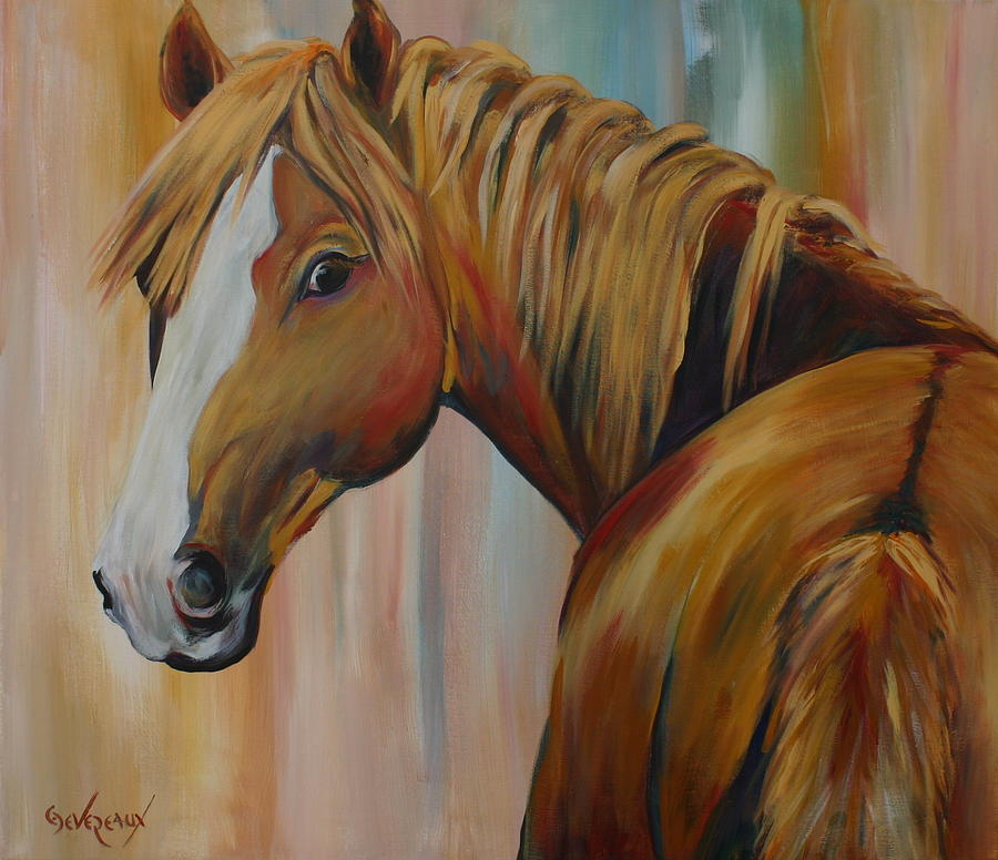 Horse Painting - Miss Candi by Cher Devereaux