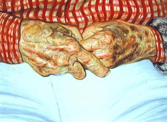 Miss Clydes Hands Painting by Cameron Hampton P S A