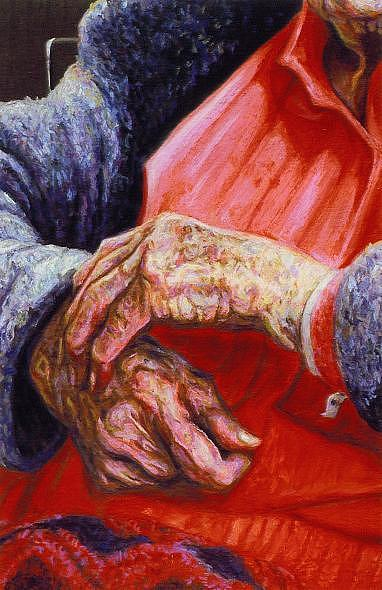 Miss Clydes Hands I I Painting by Cameron Hampton PSA