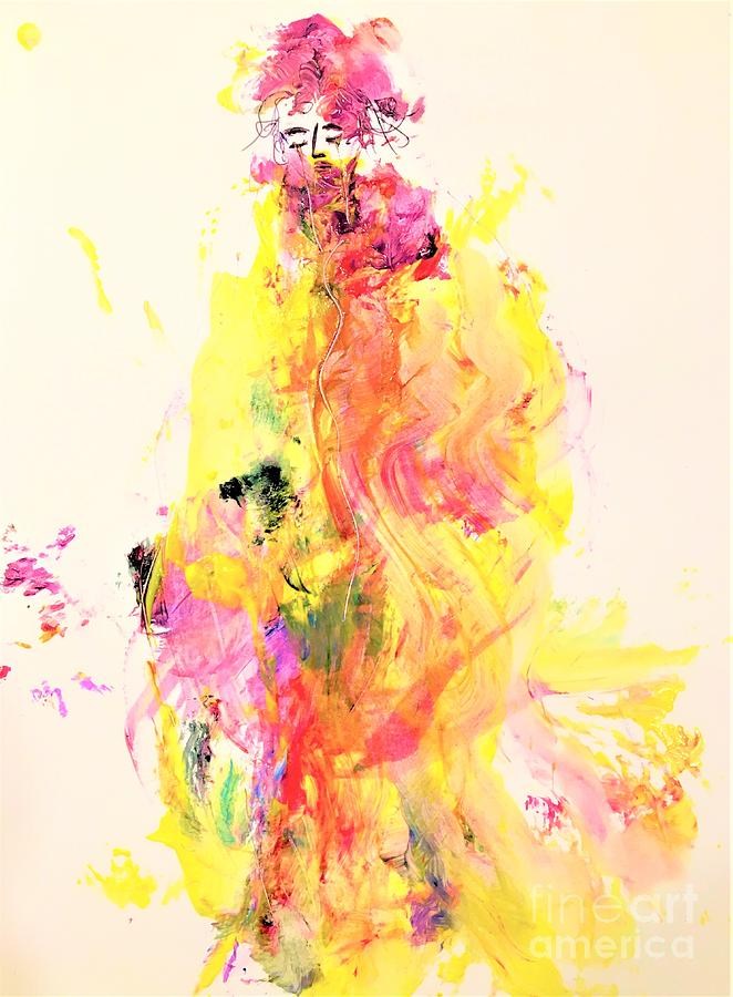 Abstract Painting - Miss Conviviality by Dr Ernest Williamson III