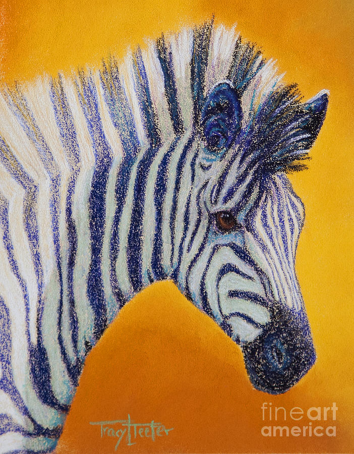 Zebra Pastel - Miss D by Tracy L Teeter